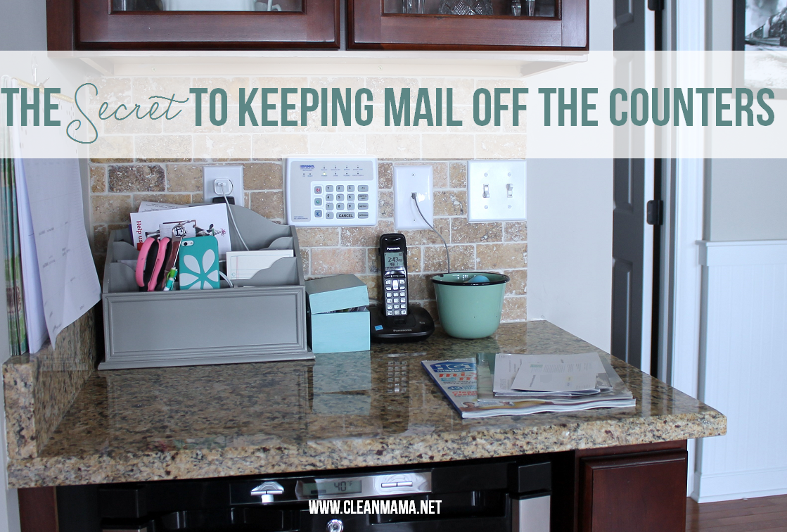 The Secret To Keeping Mail Off The Counters Paper Clutter