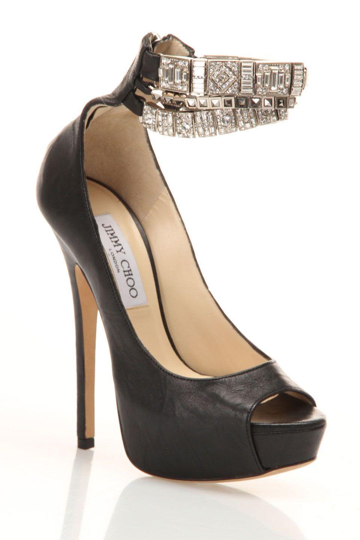 Crystal Strap Heels / Jimmy Choo