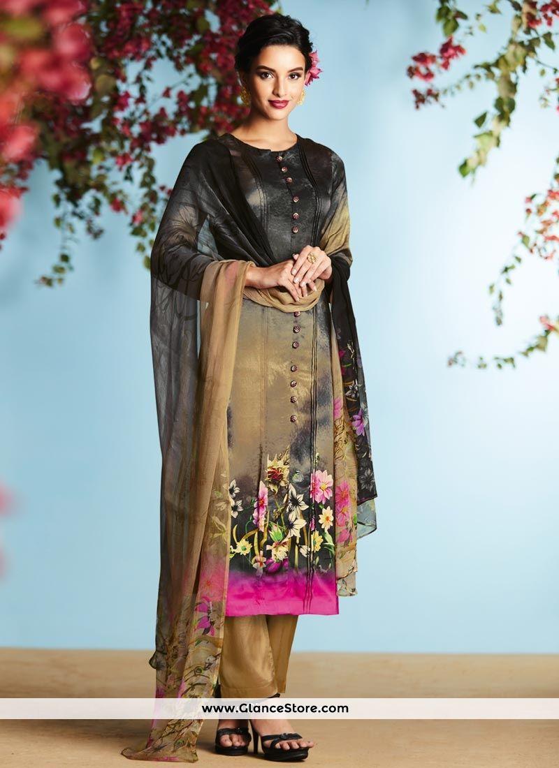 Black colour saree images stunning multi colour digital print work satin designer palazzo suit