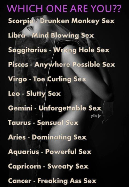 High sex drive bad temper scorpio
