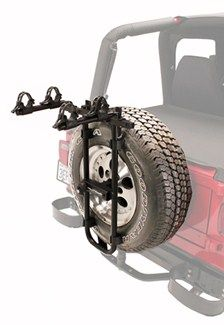 Jeep Wrangler Unlimited Hollywood Racks Sr2 2 Bike Carrier Spare Tire Mount Bicicletas Jeep