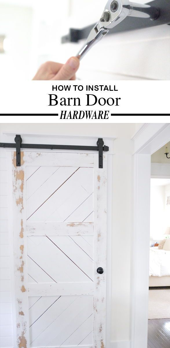 How To Install A Barn Door With This Hardware Kit With Optional