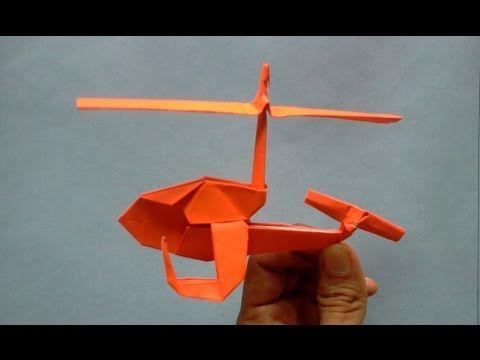 Origami Helicopter Origami 折り紙 乗り物