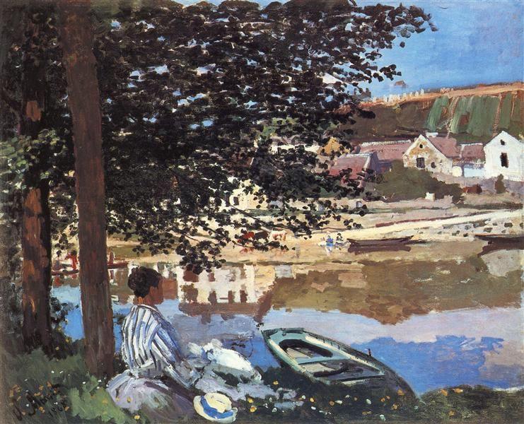 River Scene At Bennecourt 1868 Claude Monet Monet Art Claude Monet Art Claude Monet Paintings