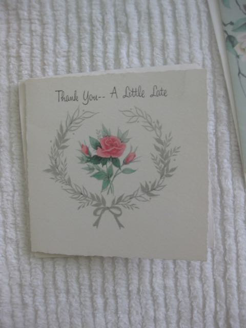A Pair of Thank You -- A Little Late Cards