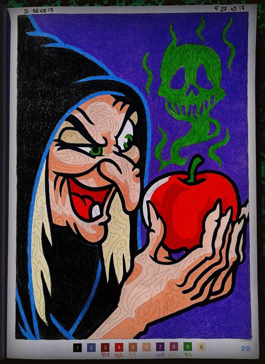 N°24 : Blanche Neige et les 24 nains  Coloriage mystere disney