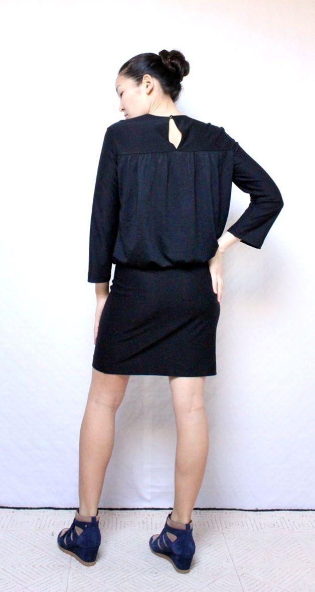 Schnittmuster für ein legeres Kleid aus Jersey.  Style Details   -Locker an  Taille und engsitzend an der Hüft -etwas übers Knielang -3 4 Ärmel Es ist  ein ... 98b7027bb9