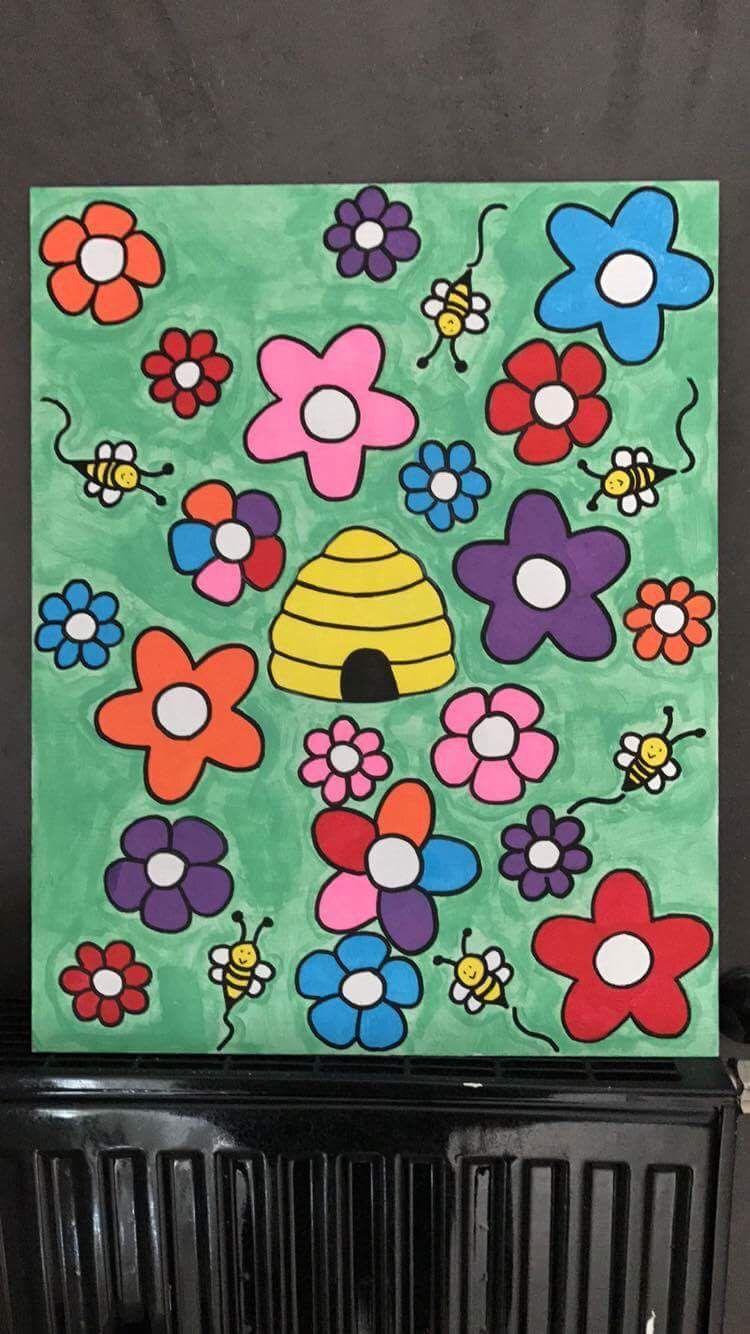 Bienen Spiel : Farben, Größe, Zahlen, Team Spiel :)   *Idee hier gefunden selber gezeichnet und bisschen umgewandelt*