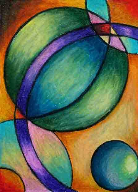 Here are some samples of my oil pastels. In 2006, I started a series based on my fascination with curved lines and how they relate to… | Pastel art, Oil pastel, Art