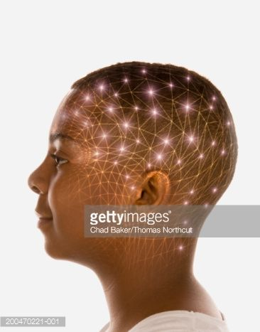 Stock Photo  Teenage Boy  With Lights Surrounding Head
