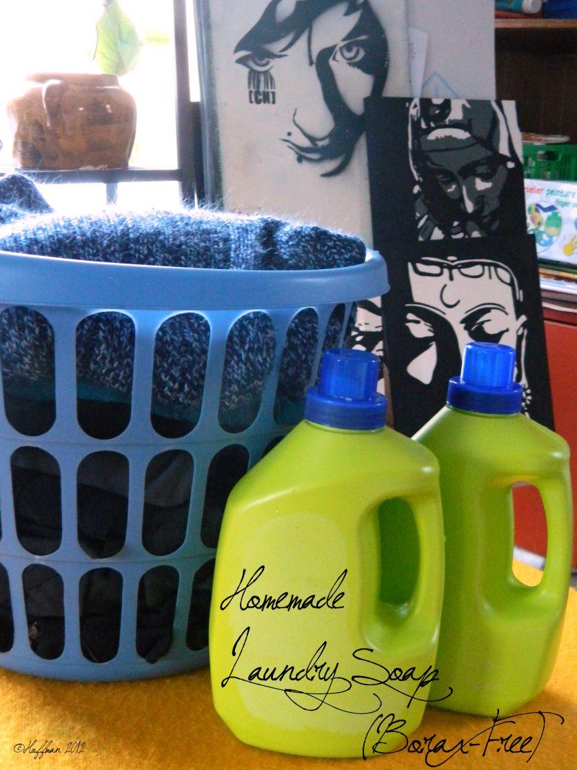 Borax free liquid laundry detergent homemade laundry