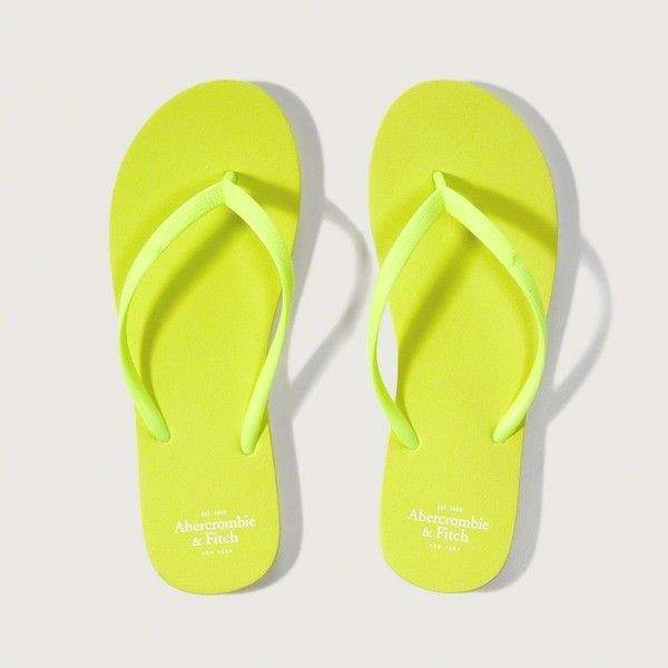 dd9651e173c4 Abercrombie   Fitch Rubber Flip Flops ( 9) ❤ liked on Polyvore featuring  shoes