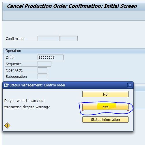 Cancellation of Manufacturing Order in ERP and EWM | Sapspot News