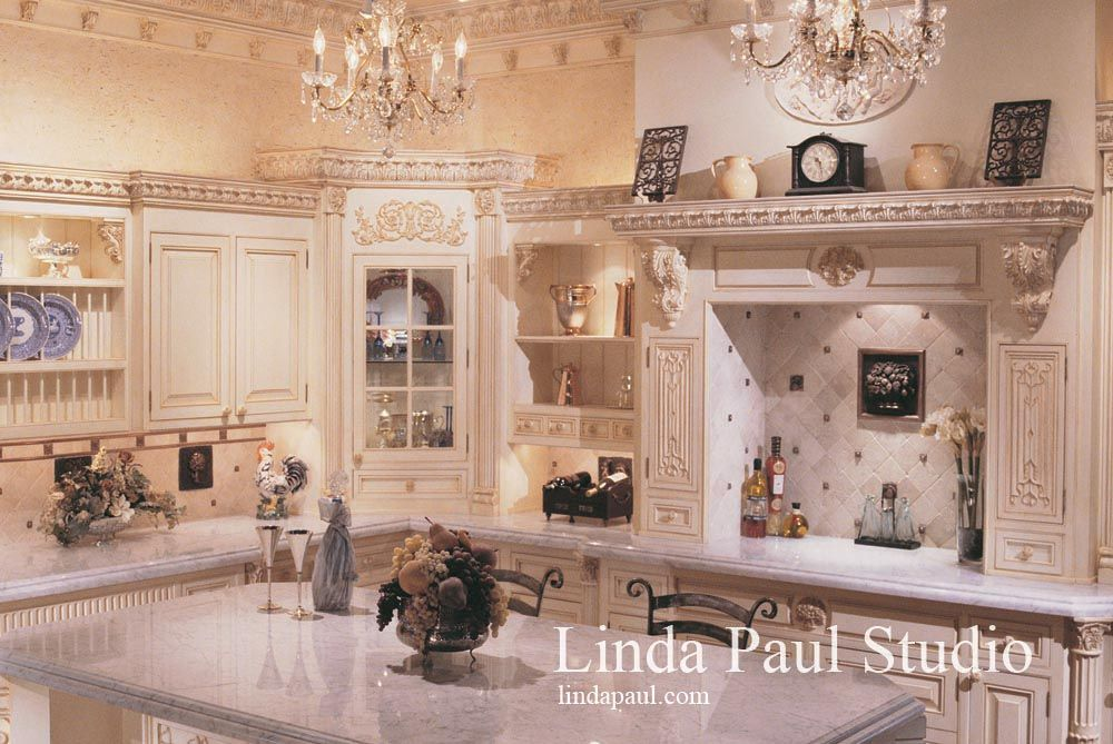 Country French Kitchen Designs:outstanding French Country Kitchen Design  With Fruit Basket Backsplash Linda Paul