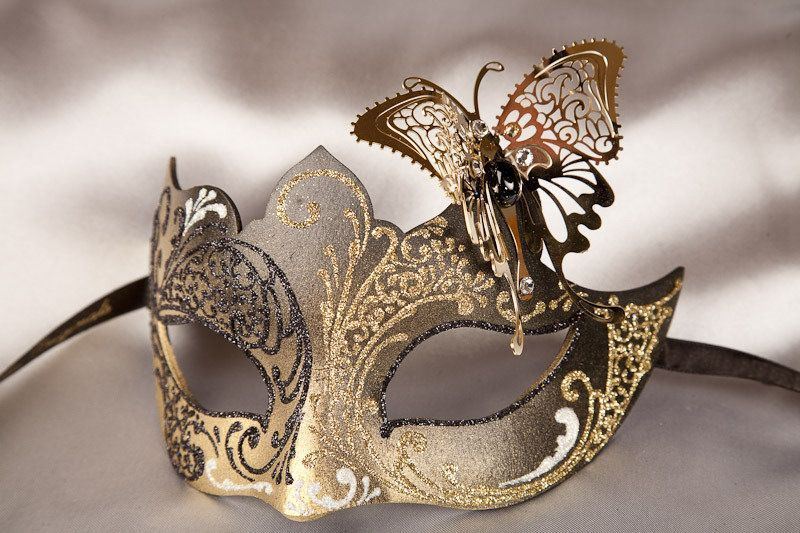 Decorative Venetian Masks Amusing Masquerade Ball Masks  Decoration Acrylic Paint Glitter Design Inspiration