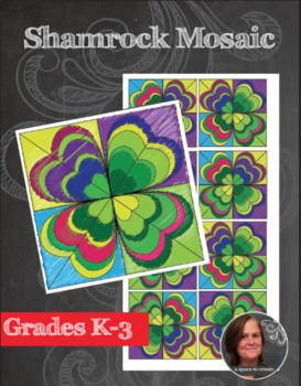 Coloring Sheets St Patrick S Day Art Lesson Shamrock Mosaic