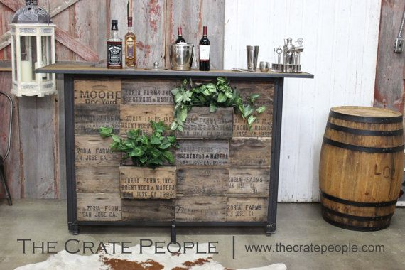 FREE SHIPPING  The Crate Bar  Custom Made di TheCratePeople                                                                                                                                                      More