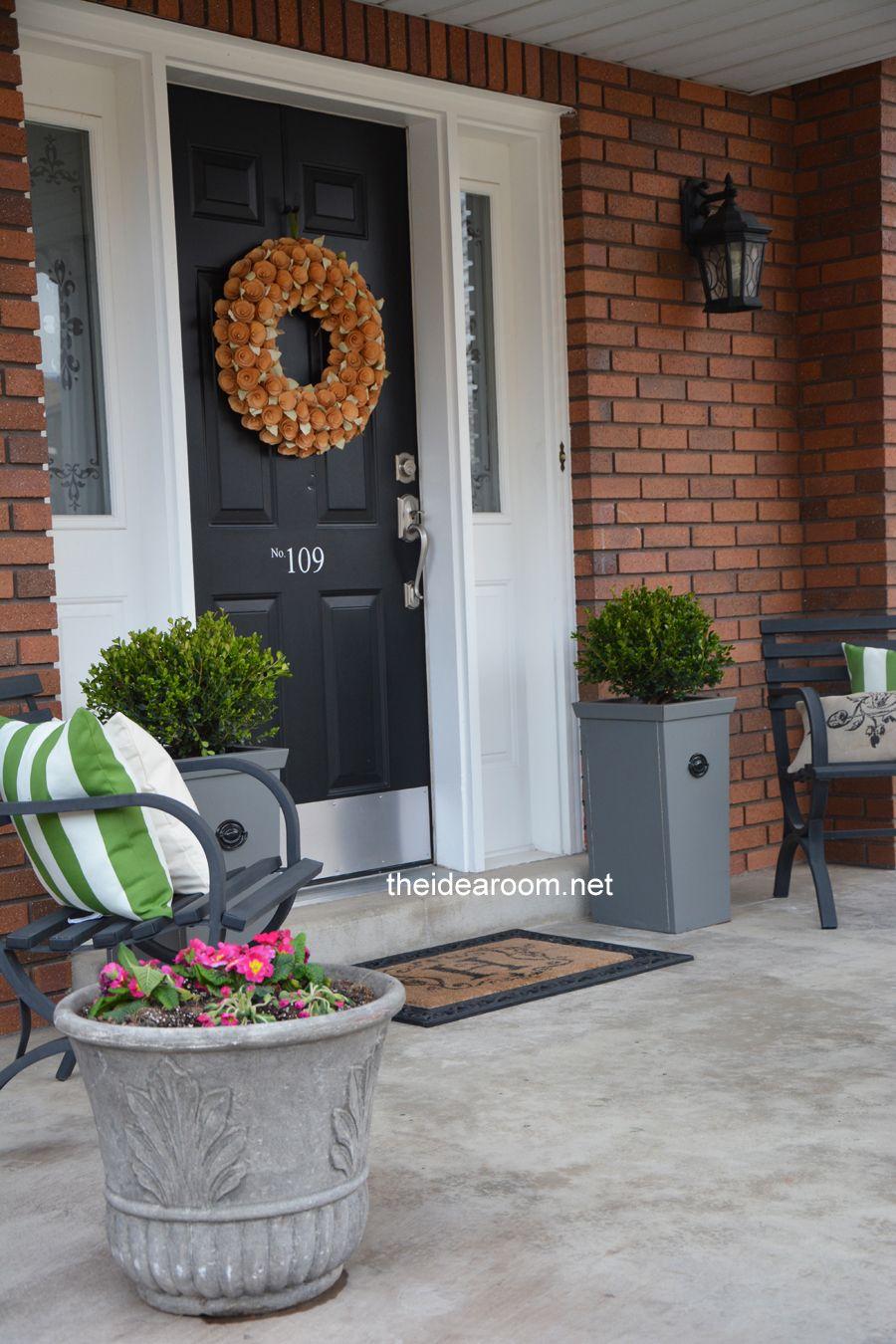 diy porch planter best of the blogosphere pinterest porch diy porch and front porch. Black Bedroom Furniture Sets. Home Design Ideas