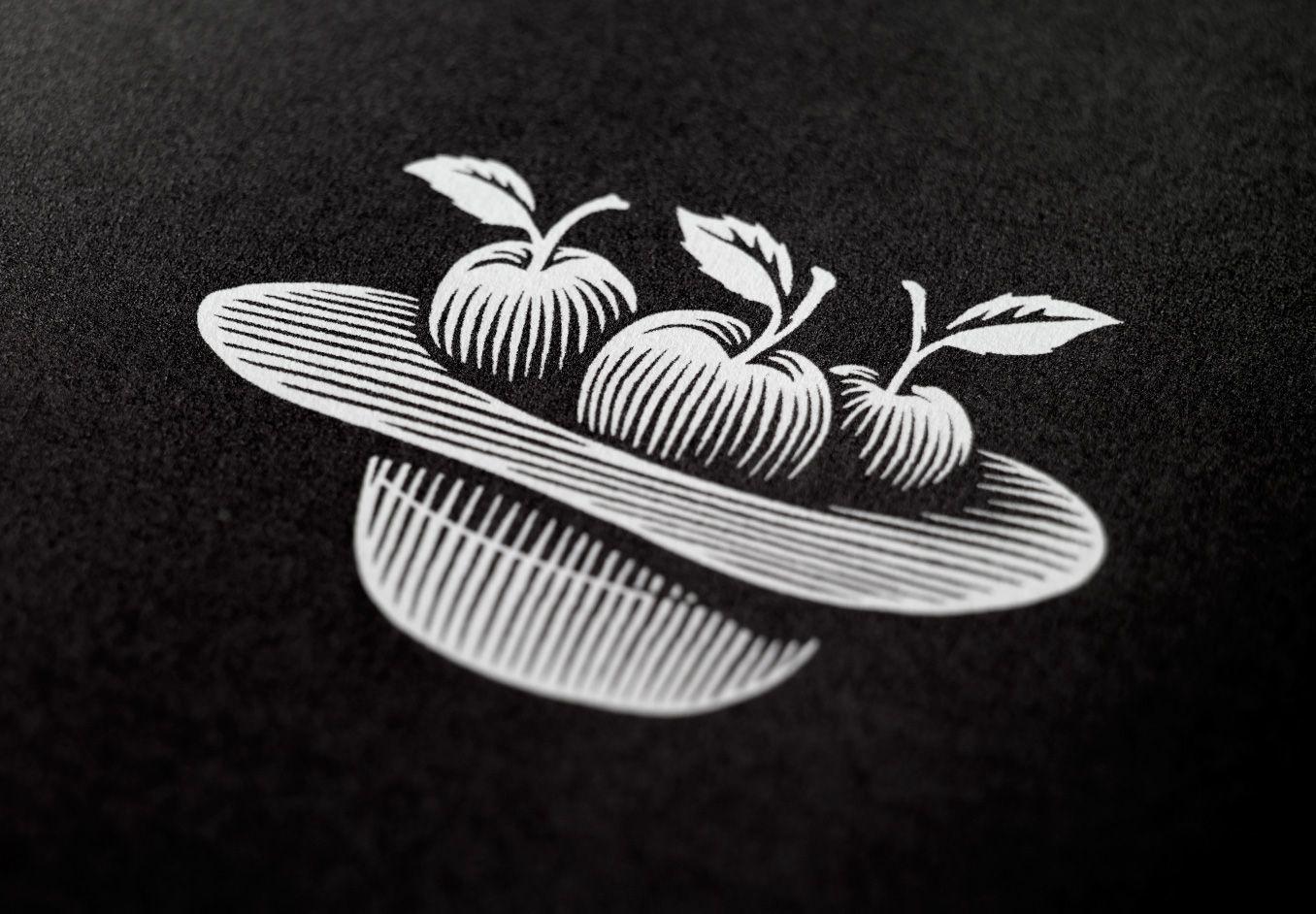Jack Daniel's / Jack Daniel's Hat / Design / Branding / Tennessee Cider / Cider / Hard Cider / Apples / Whiskey / Old No.7 / Woodcut /  Black & White