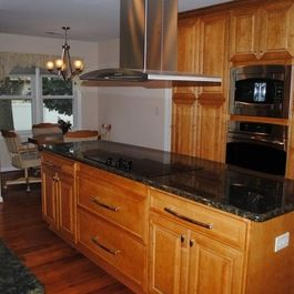 Kitchen Remodel Pictures Maple Cabinets kitchen remodel with maple prescott butterscotch cabinets and