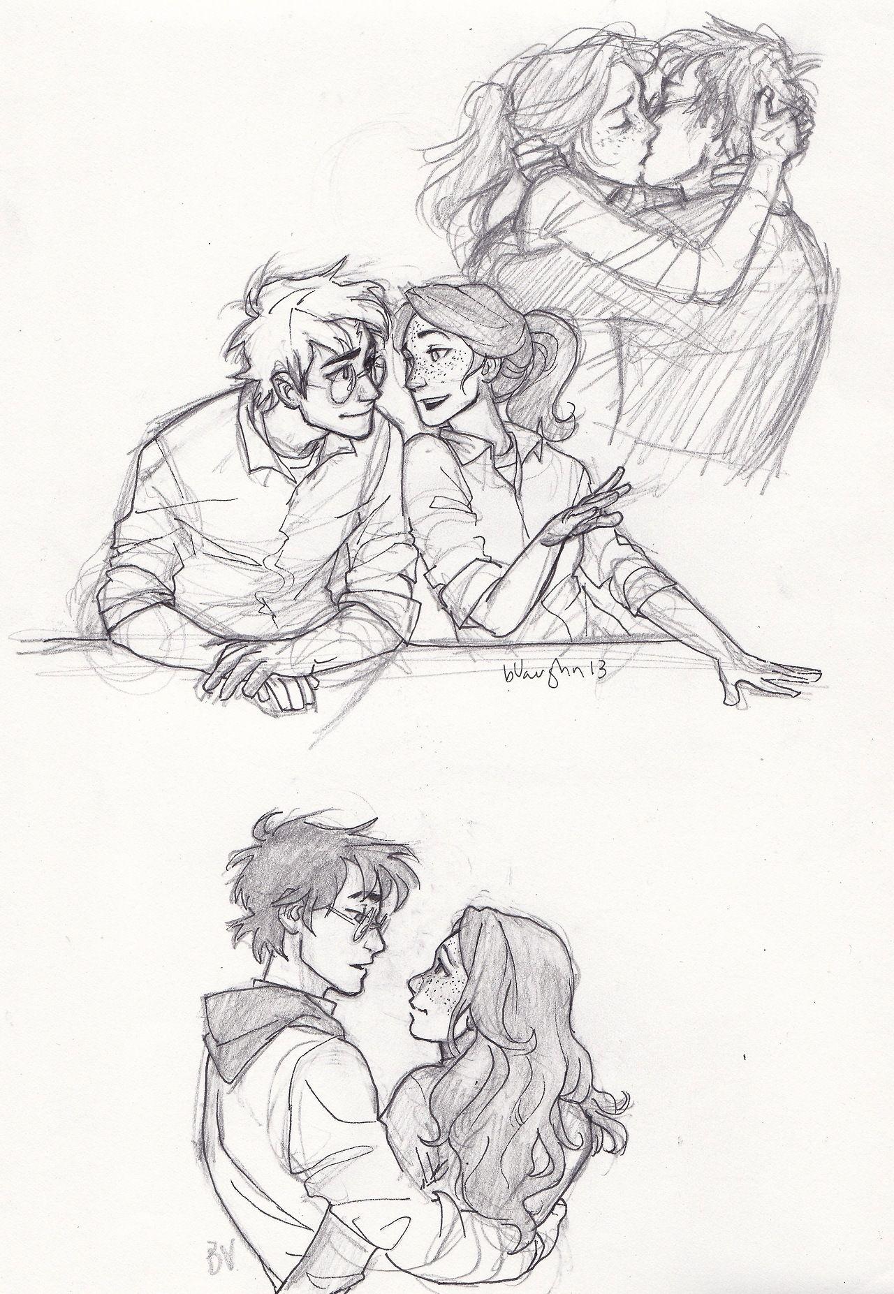 Harry and Ginny | HP | Pinterest | Zeichnen, Vorlagen und Harry potter