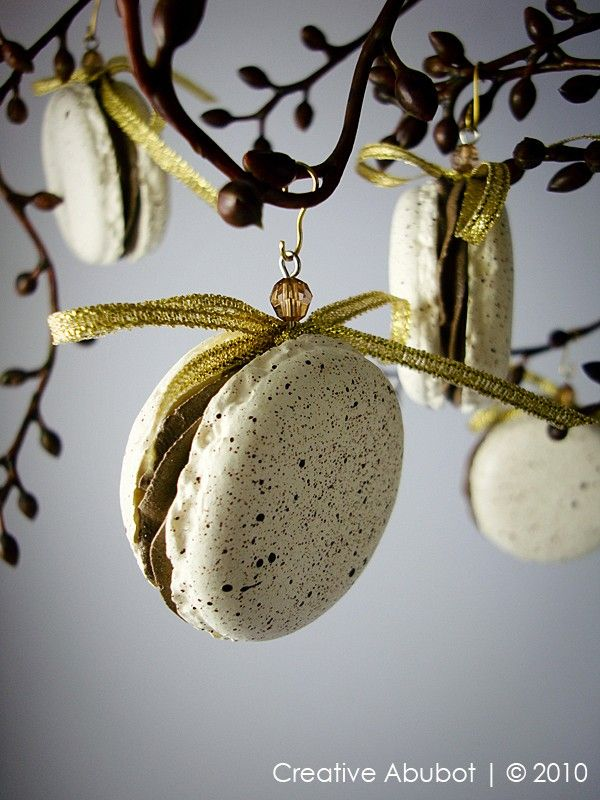 French Macaron Ornaments 7 99 Via Etsy Glam Christmas