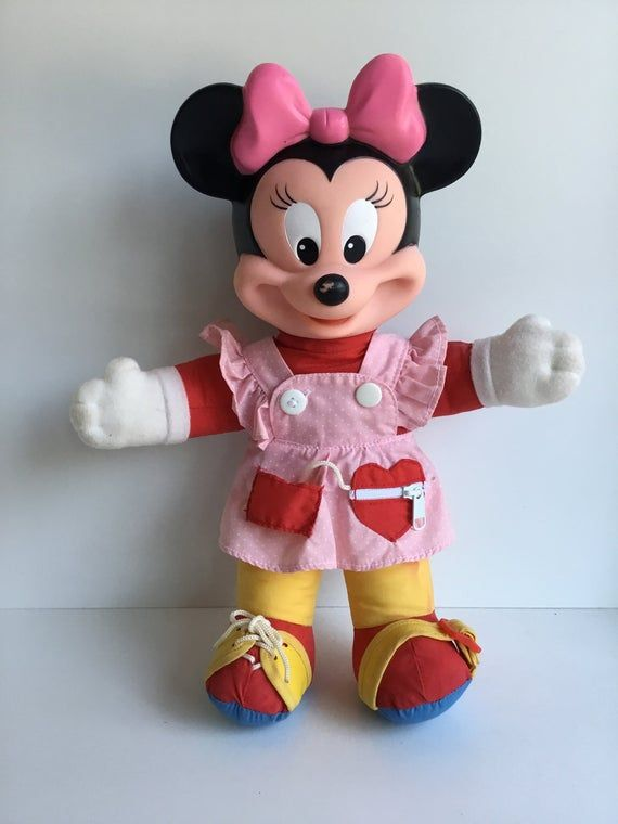 Vintage Mattel Disney Learn to Dress MINNIE MOUSE Plush ...