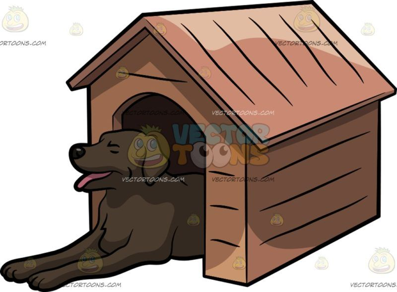 A Big Dog In A Dog House Big Dogs Dog House Animal Clipart