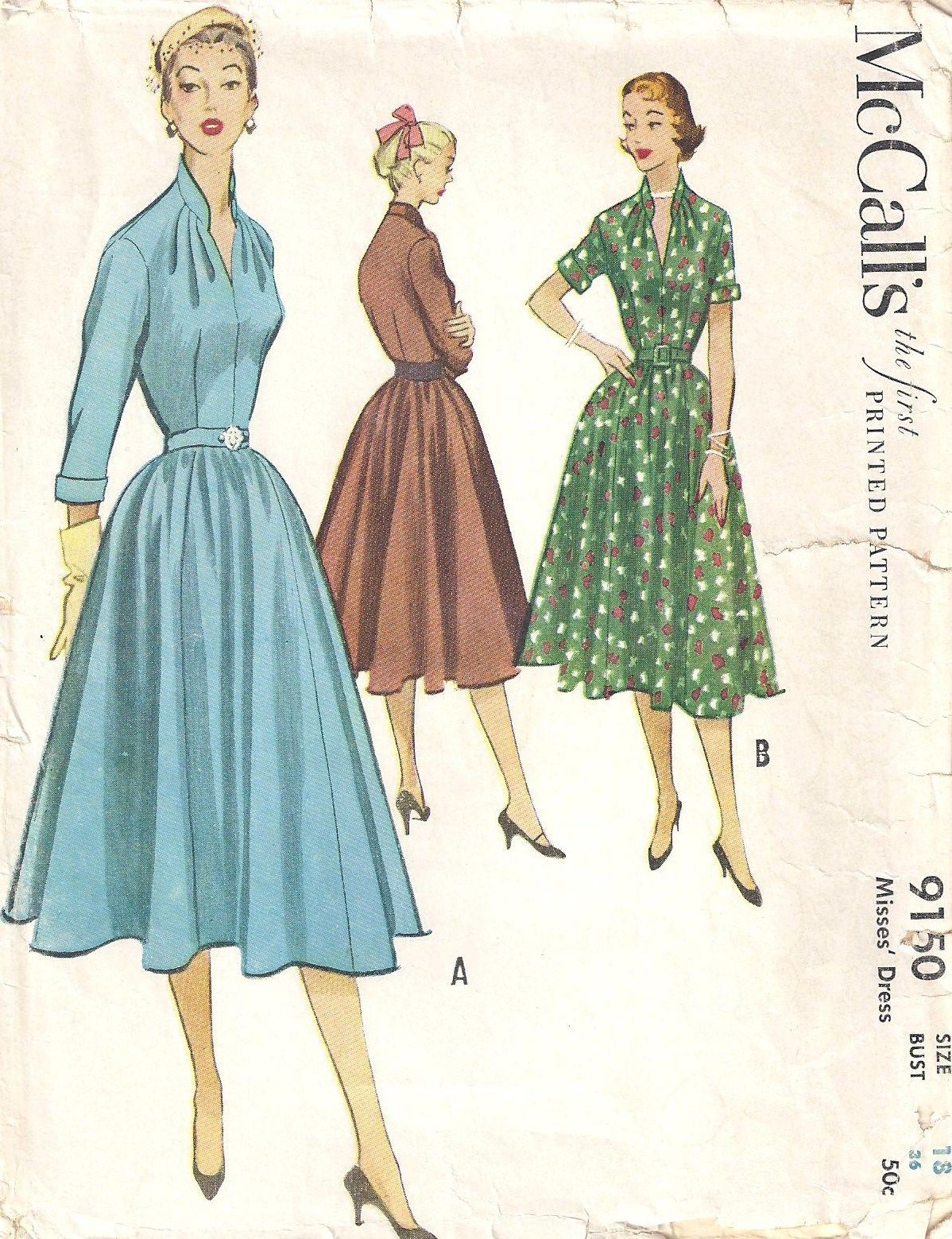 Vintage Vogue Designer Patterns | Vintage Sewing Patterns | 1950s ...