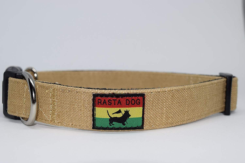 Rasta Dog Adjustable Collar Eco Friendly Bamboo With Fleece Lining