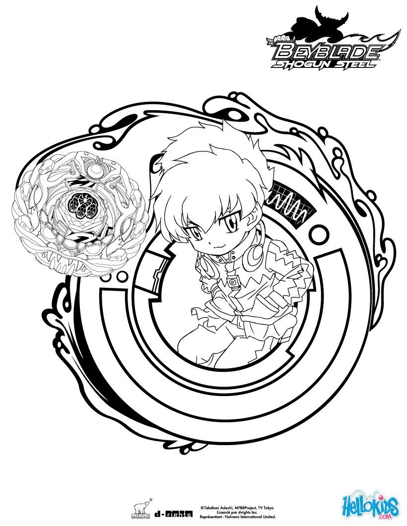 Eight coloring page More Beyblade coloring sheets on hellokids