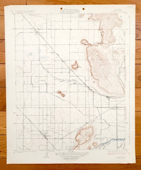 Antique Ivanhoe, California 1926 US Geological Survey