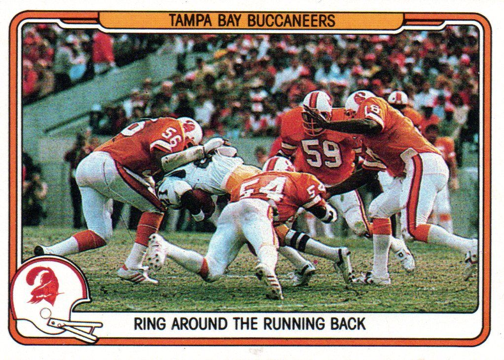 Tampa Bay Buccaneers Defense Ring Around The Running Back Football Card Tampa Bay Bucs Tampa Bay Buccaneers Buccaneers