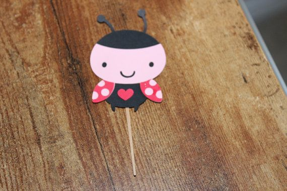 Adorable Lady Bug Birthday Theme Cupcake by PartyDesignsByWendy