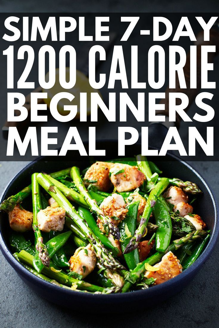 Low Carb 1200 Calorie Diet Plan: 7-Day Meal Plan for ...