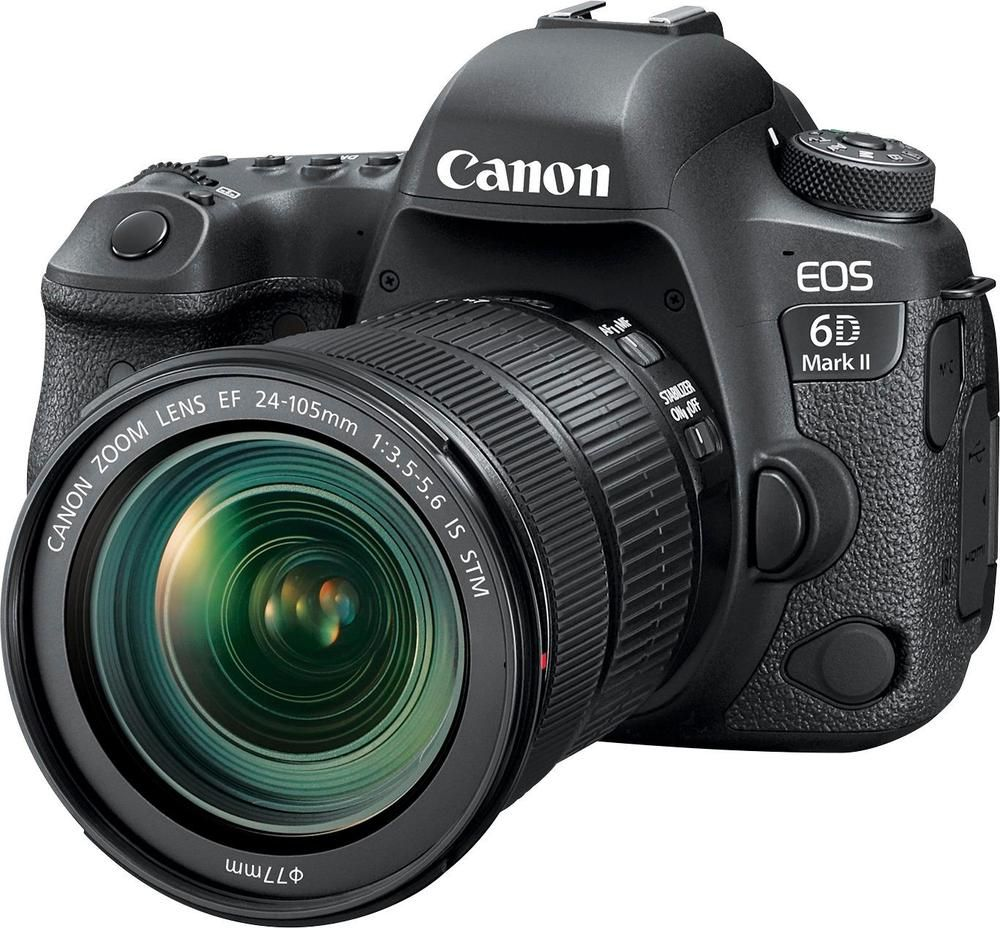 Canon Eos 6d Mark Ii Dslr Camera With Ef 24 105mm F 3 5 5 6 Is Stm Lens Black 1897c021 Best Buy Best Dslr Canon Dslr Best Camera