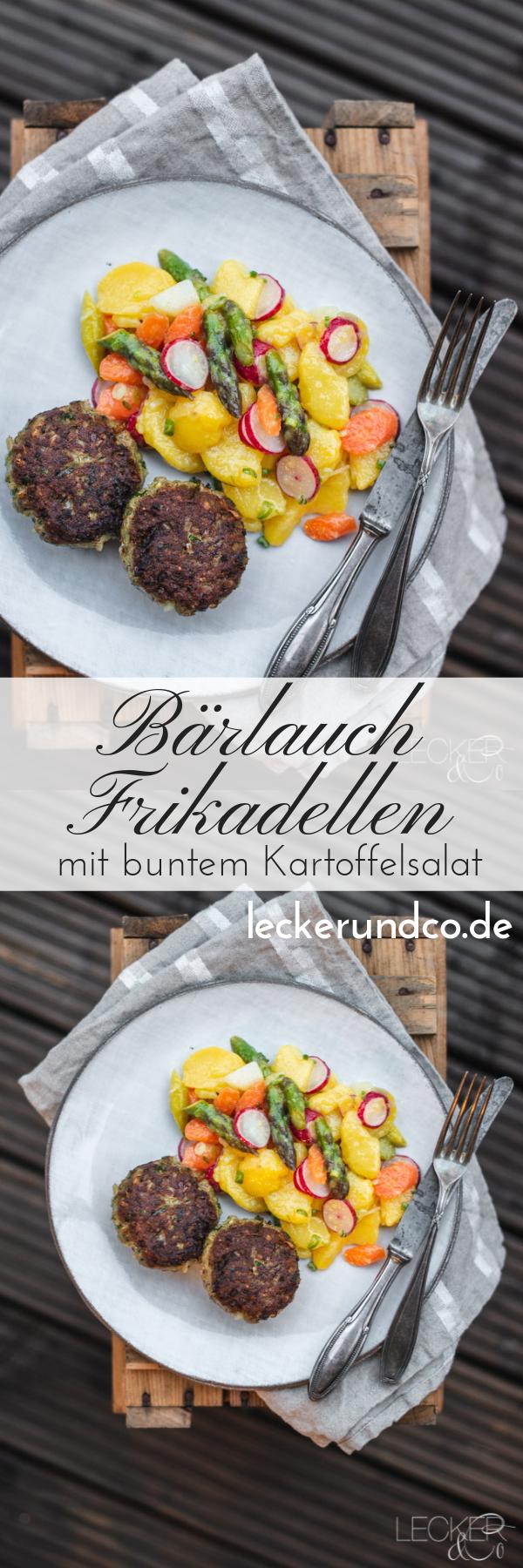 Bärlauchfrikadellen mit buntem Kartoffelsalat | LECKER&Co | Foodblog aus Nürnberg