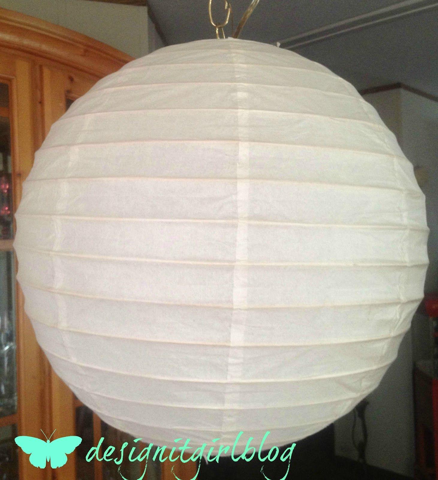 Designitgirlblog DIY Round Paper Lantern