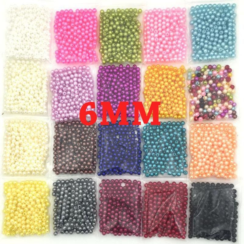Visit to Buy] 6MM ABS Imitation Pearl beads Round Plastic Beads for ...