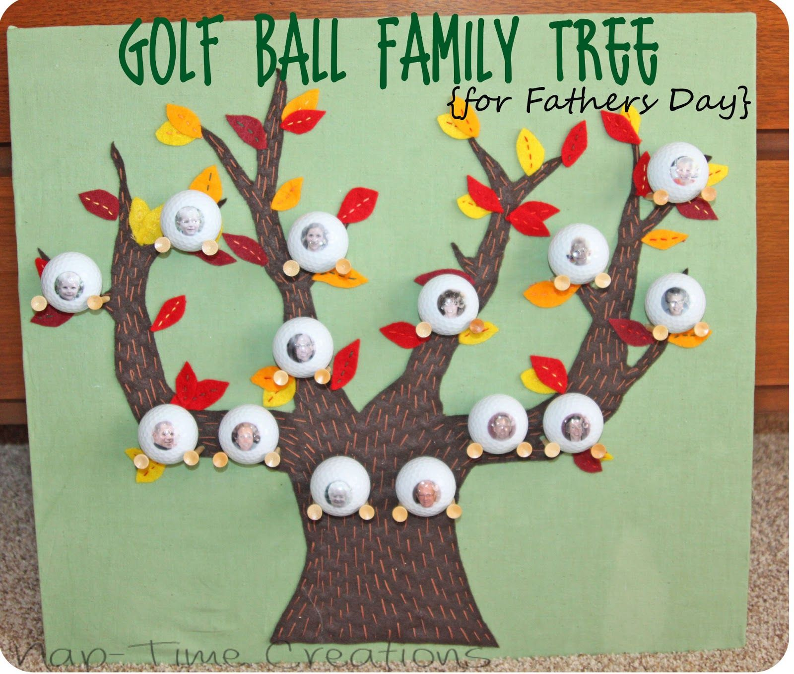 Golf Ball Family Tree {Fathers Day Gift Idea}  Nap Time