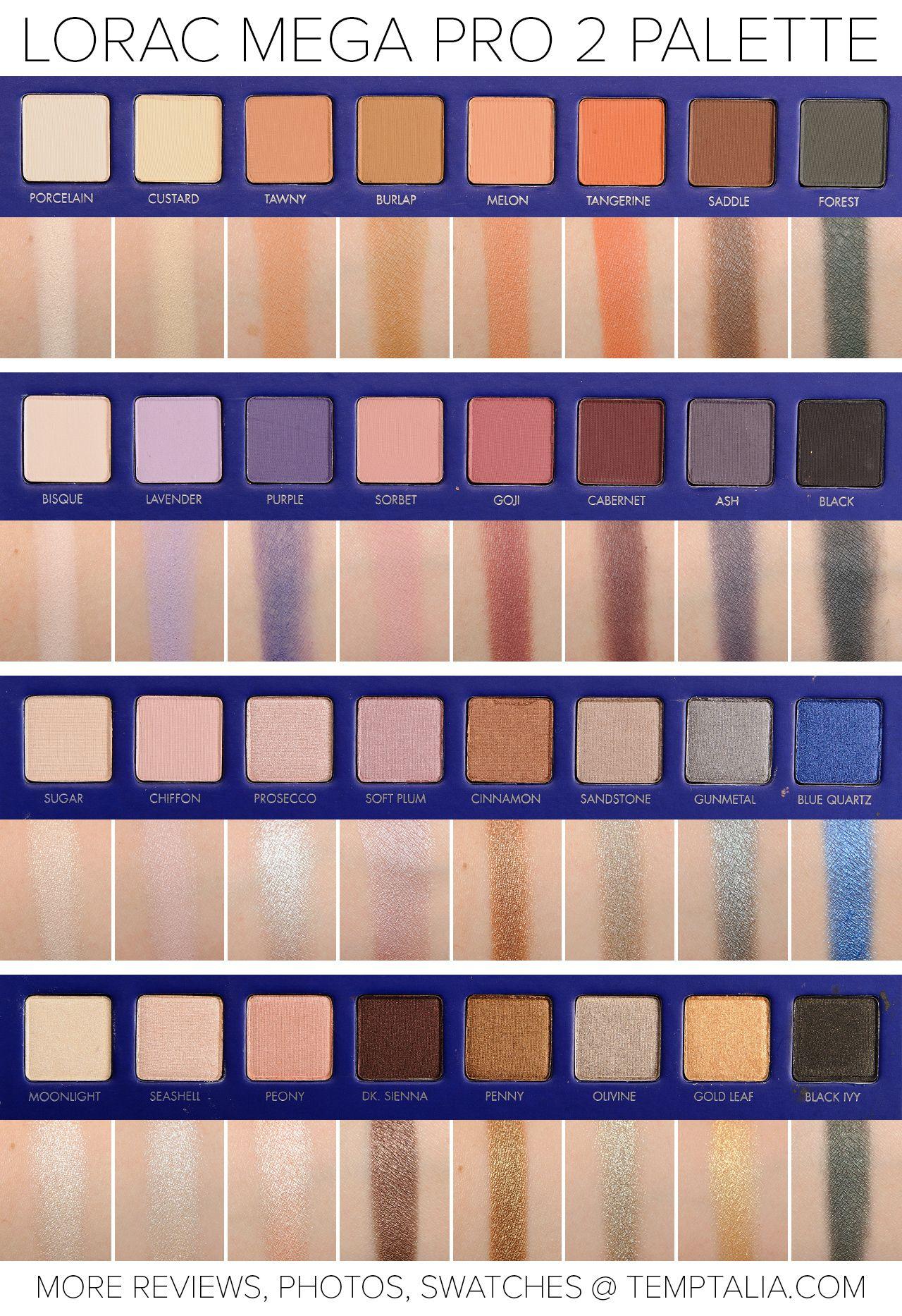 sneak peek lorac mega pro 2 palette photos swatches m a k e u p