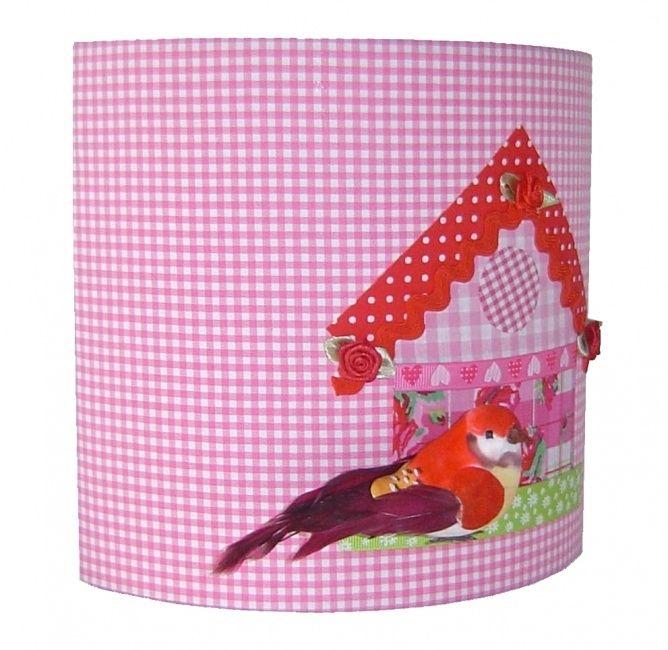 Wandlamp Vogelhuisje Pink | Lampen | Vlindertje Vrolijk