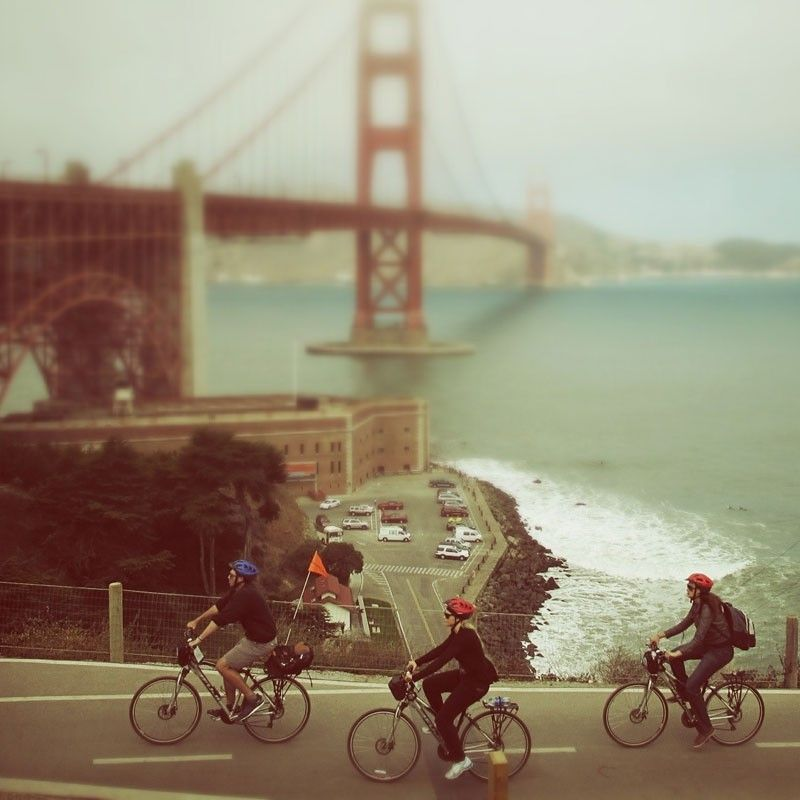 #Biking  #SanFrancisco #california #bike #golden #gate #bridge