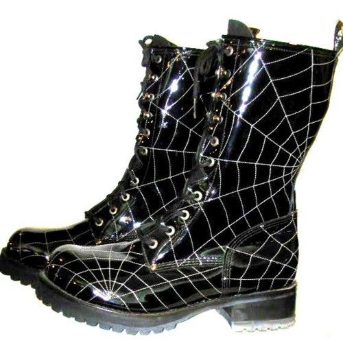 f0d9da3e3747c Doc Martens with spider webs i soo need these! | Ass Kickers | Goth ...
