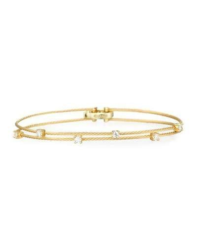 Paul Morelli 18k Yellow Gold Six-Diamond Bracelet, 0.36 TCW