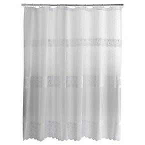 Eyelet Embroidered Lace Shower Curtain White Target Lace