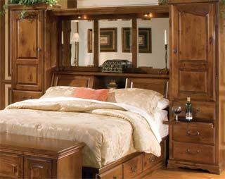 Queen Bed Bguiltin Headboard Bookcase Headboards Bookcase