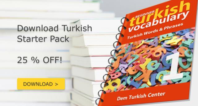 Download Turkish Starter Pack and start learning Turkish!Download