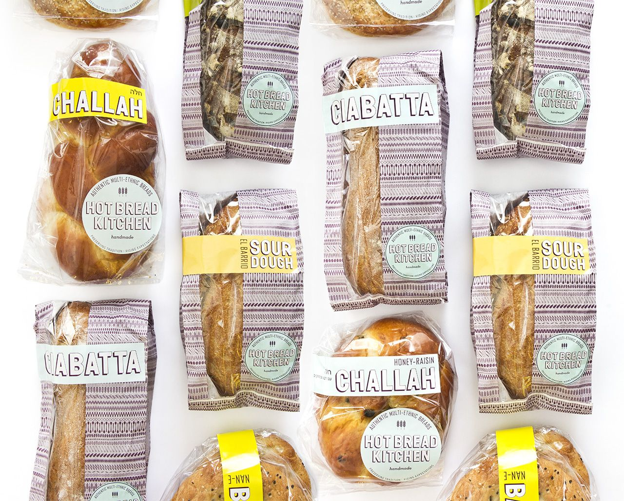 Hot Bread Kitchen - branding and packaging   Pentagram   packaging ...
