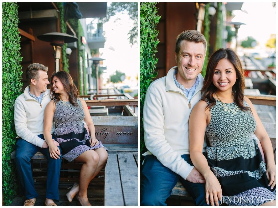 Christine & Jon Engagement Session | Jen Disney Photography | Little Italy, San Diego